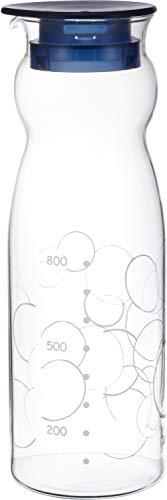 iwaki(イワキ) 耐熱ガラス ピッチャー 冷水筒 1.3L クールサーバー 麦茶 お茶 ポット KBT2887-BL