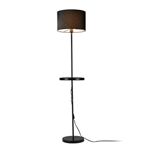 Muebles para el hogar Sala de estar Dormitorio Estudio de cabecera Lectura Lámpara de mesa estéreo Lámpara de pie vertical con bandeja Estante Mesa de centro Estilo americano Luminaria sencilla y a