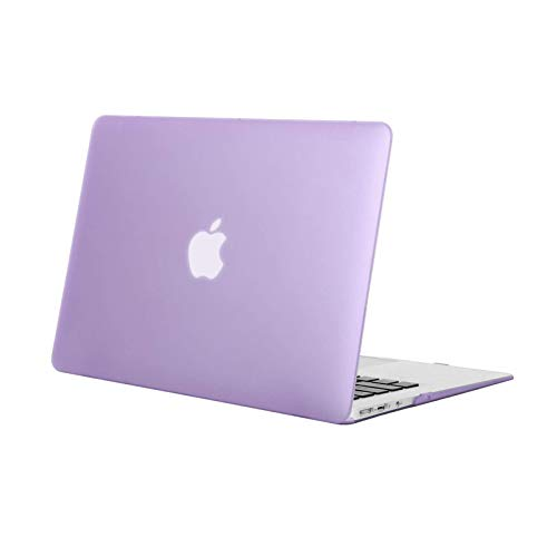 MOSISO Compatible with MacBook Air 13 inch Case Old Version 2010-2017 Release (Models: A1466 & A1369), Protective Plastic Hard Shell Case Cover, Light Purple