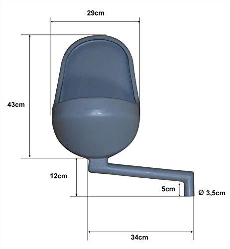Urinal, Pissuar Wasserlos, WC Kabinen Urinal, Urinalbecken aus Kunststoff