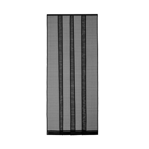 Fliegengitter Insektenschutz Tür Lamellenvorhang Vorhang Mückenschutz 100 x 220 cm schwarz