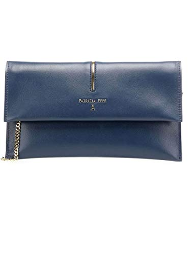 Patrizia Pepe Piping Clutch Navy