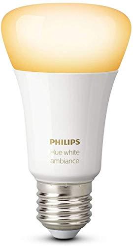 Philips Hue White Ambiance E27 LED Lampe Erweiterung, dimmbar, alle Weißschattierungen, steuerbar via App, kompatibel mit Amazon Alexa (Echo, Echo Dot)