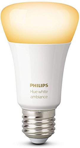 Philips Hue Ampoule connectée White Ambiance Blanc chaud / Blanc froid E27 Emballage Traditionnel - Fonctionne avec Alexa