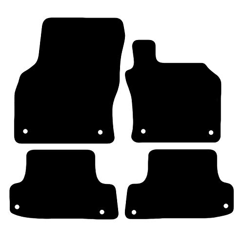 Carsio Tailored Black Carpet Car Mats for Audi A3 S3 RS3 2016 Onwards - 4...