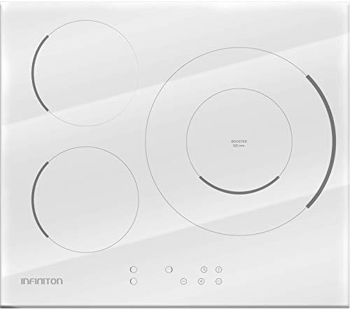 IN ENCIMERA INDUCCION INFINITON IND-932WH Ancho 60CM (Funcion Boost, Control Tactil, 9 Niveles de Potencia, Temporizador Individual) (3 Zonas (Blanco))
