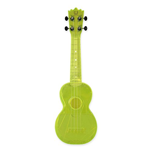 Woodi Brand New 21' Soprano Plastic Ukulele WU-21NY (Translucence Neon Yellow)