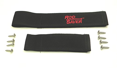 Rod Saver 10/6RS Original Marine Rod Saver Set with 10-Inch and 6-Inch Straps, 2-Pieces, Black Finish