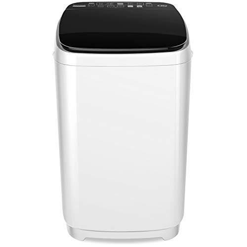Portable Washer Nictemaw Full-Automatic Washing Machine 1.47Cu.ft/13.5Lbs Capacity 2 in 1 Laundry Washer with 10 programs & 8 Water Level Selections Compact Washer and Dryer for Home, Apartments, Dorm, Camping