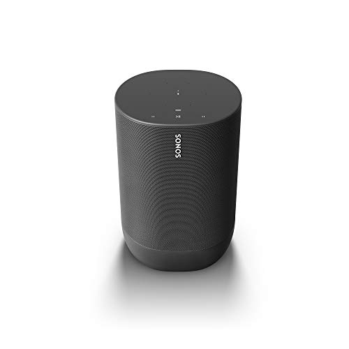 Sonos Move lo Smart Speaker da Outdoor, Alimentato a Batteria per l'Ascolto della Musica Dentro e Fuori Casa, Amazon Alexa e Google Assistant Integrati, Nero