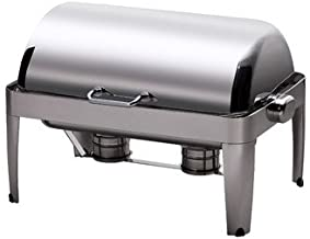 Smart Buffet Ware 1A17510C IBIS Stackable Oblong Roll Top Stainless Steel Chafing Dish