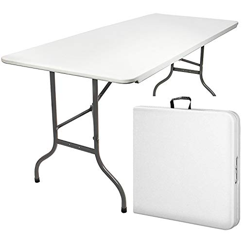 MaxxGarden Table Pliante - Table de Jardin - Table Exterieur - Table Pliable (180 x 74 cm) - Couleur Blanche