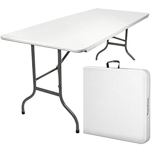 MaxxGarden - Campingtisch Klappbar Mit Griff Zum Tragen - Klapptisch Ideal Als Camping Tisch, Gartentisch, Biertisch & Dj Tisch (180x75x74cm)
