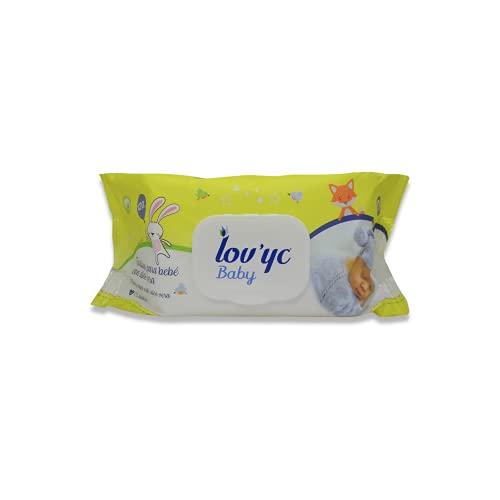 Lov'yc - Toallitas húmedas para bebés con aloe vera, 1 paquete con 120 toallitas