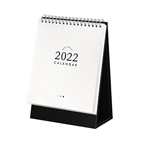 WYDMBH 2022 Calendar Journey Desktop Calendar 2022 Solid Color Schedule Table Week Monthly Planner Lunar Calendar Office Kawaii Desk Accessories (Color : Red)