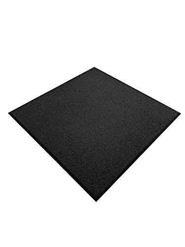 Pack de 4 losetas de caucho para gimnasio | 50 x 50 x 1,5 cm cm | Suelo de caucho | Suelo gimnasio (Negro)