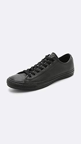Converse All Star Ox Leather Zapatillas Negras Monocromas-UK 8.5