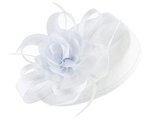 Mesdames Courses Rose avec Fleurs Hatinator Serre-Tête Chapeau Bibi pour les mariages