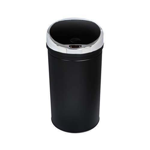 axentia Pattumiera con sensore rotonda in acciaio e plastica, pattumiera automatica con display a...