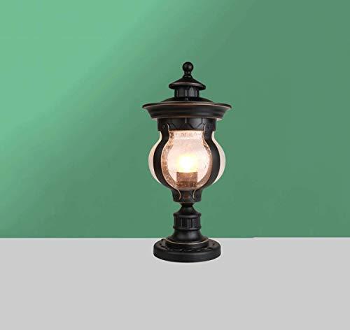 GUOGUOSM Lámpara de cabeza de columna de estilo europeo Lámpara de jardín Lámpara de cabeza de columna Lámpara de poste de puerta Lámpara de jardín Villa Lámpara de pared impermeable al aire