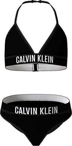 Calvin Klein Mädchen Triangle Bikini-Set, Pvh Black, 10/12/2020