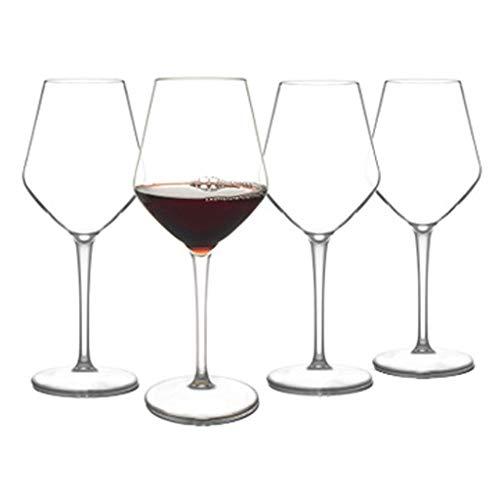 ZHANGXINYIN - Copa de vino de plástico irrompible (500 ml), reutilizable, 100% plástico Tritan irrompible, juego de regalo de 4, sin BPA y sin lavavajillas Tritan plástico crudo