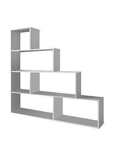 Habitdesign 002255BO - Estantería decorativa, acabado color blanco brillo, medidas 145 x...