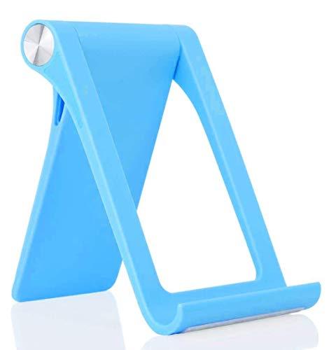 KP TECHNOLOGY Soporte para teléfono móvil, multiángulo, ajustable, soporte para teléfono de escritorio Oppo Reno5 K y todos los demás dispositivos inteligentes de hasta 11 pulgadas (azul)