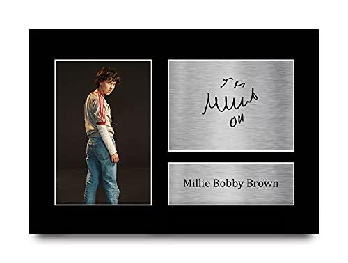 HWC Trading Millie Bobby Brown des Choses Étranges Onze Cadeaux Imprimés Image Autographes pour La Télévision Souvenirs Ventilateurs Signed - A4