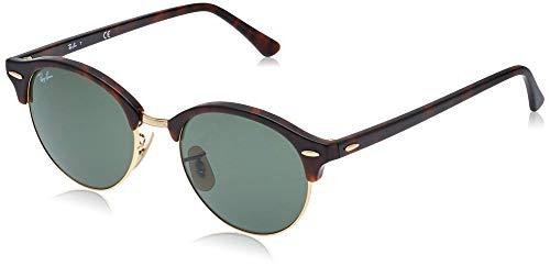 Ray-Ban Unisex Clubround Sonnenbrille, Mehrfarbig (Gestell: havana, Gläser: grün 990), Medium (Herstellergröße: 51)