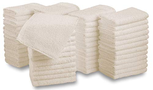 Westlane Linens Waschlappen aus 100% Baumwolle 12er Pack Waschlappen & Waschlappen Super Soft Hotel-Qualität (12, 30x30 Beige)