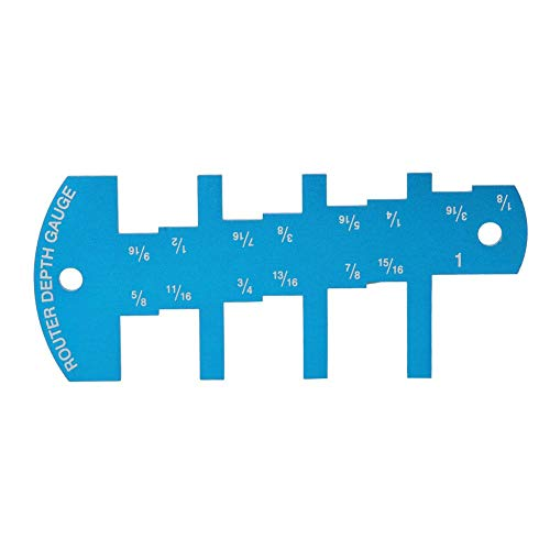 stronerliou Sierra de Mesa Regla de medición de Profundidad Aleación de Aluminio Medidor de límite de Altura Herramienta de carpintería