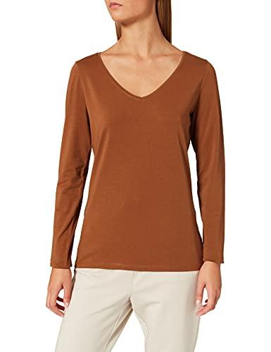 Esprit 999EE1K816 Camiseta, 225/Toffee, L para Mujer