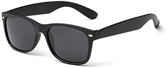 نظارات شمسية بعدسات مستقطبة عصرية شبه مربعة واطار اسود للرجال والنساء واقية من الاشعة فوق البنفسيجة UV400، لون اسود [BTX-2]