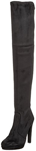 Buffalo London Damen 2863 Micro Strech Stiefel, Schwarz (Black 01), 36 EU
