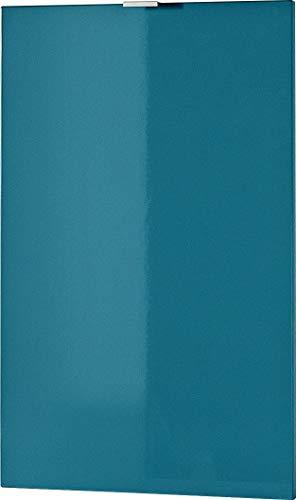Germania 3457-193 Tür mit Einlegeboden für Kommode/Sideboard Colorado in Petrol Hochglanz, 48 x 76 x 2 cm (BxHxT)