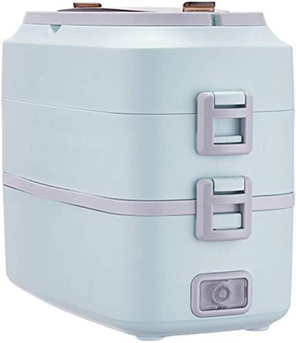 JILIGUALA Elektro-Lunch Box, 200W 2.0L, Two-Tier-Konfiguration, One-Key Intelligent Control, Lebensmittel-Heizungs-Wärmer, versteckte Speichergeräte, Büro Schule und zu Hause