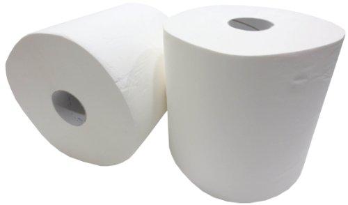 2x Putzrolle weiß 2-lagig gesamt 1600 Blatt 26x35 cm perforiert Reinigungstücher Putzpapier Wischtücher