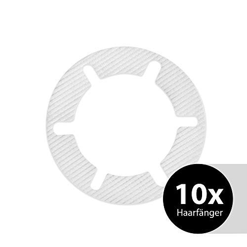 Trapflex Haarfänger Set (10 Stück) | Haarsieb für Ablaufgarnituren/Duschabläufe | Durchmesser: 11cm | HF90 | Passend für Abflüsse mit Ventilabdeckung (Viega, Alcaplast, Nordona, Aquabad)