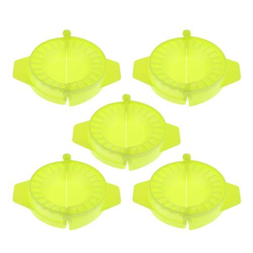 dailymall 5x Moules à Chaussons, Machine à Boulette, Moules à Raviolis, Accessoire de Cuisine, Moule DIY Jiaozi, Chinois de Cuisine - Vert