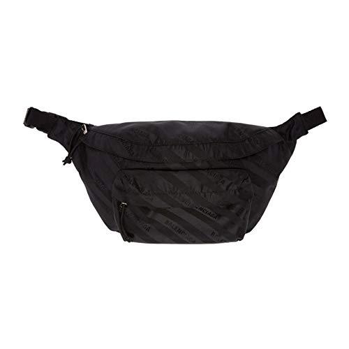 (バレンシアガ) Balenciaga レディース バッグ ボディバッグ・ウエストポーチ Black Jacquard Wheel Belt P...