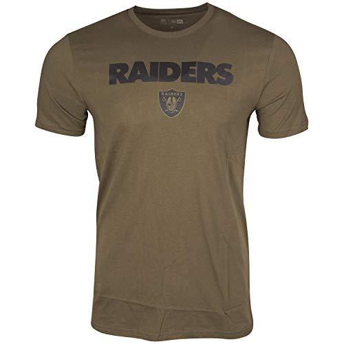 New Era CAMO Wordmark Shirt - NFL Las Vegas Raiders Oliv - M