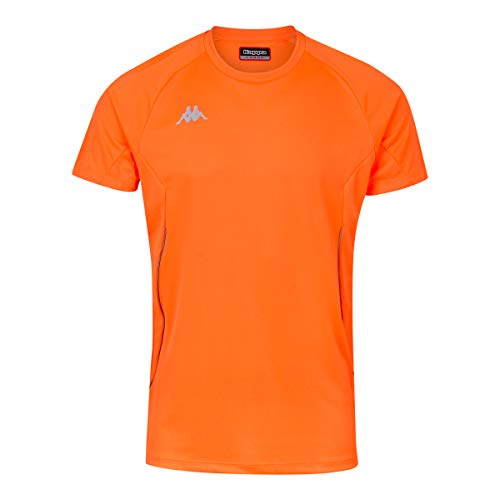 Kappa Fanio Camiseta técnica, Hombre, Naranja Fluor, 6Y