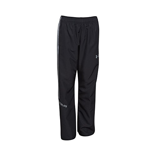 Under Armour Boys' Main Enforcer Woven Pants, Black /Steel, Youth Small