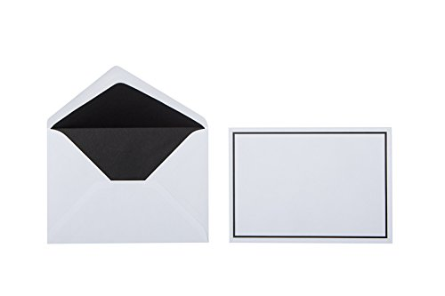 50 Trauer Briefumschläge ,Weiß mit Schwarzen Rand 12 x 17,5 cm sehr gute Qualität