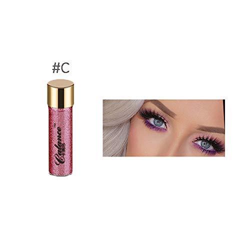 wyxhkj Ombre à paupières Palette de poudre fard à paupières scintillante mat maquillage cosmétique fard à paupières mat (C)