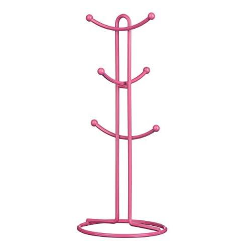 Premier Housewares Helix 6-Cup Mug Tree - Hot Pink