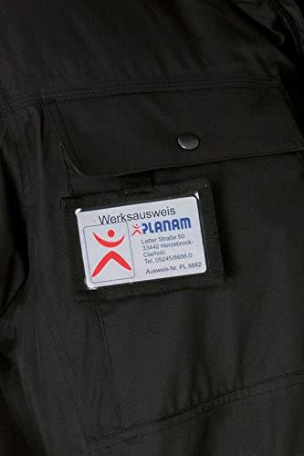 Planam 6005001 Secu Parka - Borsa porta badge, taglia unica, colore: Nero