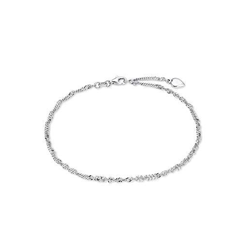 Amor Fußkette für Damen, Sterling Silber 925, Herz