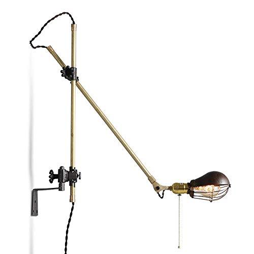 LLYU wekker in industriële stijl retro nachtlampje in de woonkamer woonkamer wandwekker van smeedijzer creatief retro American lamparm